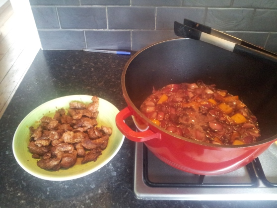 Browned stewing beef - is there a more promising sight?